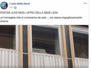 """Inter, Curva Nord protesta sotto la Lega Calcio: """"Vergognatevi siete pro Juventus"""""""