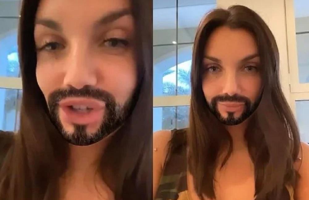 """Elettra Lamborghini in quarantena posta un video con la barba finta: """"Sembro Gesù"""""""