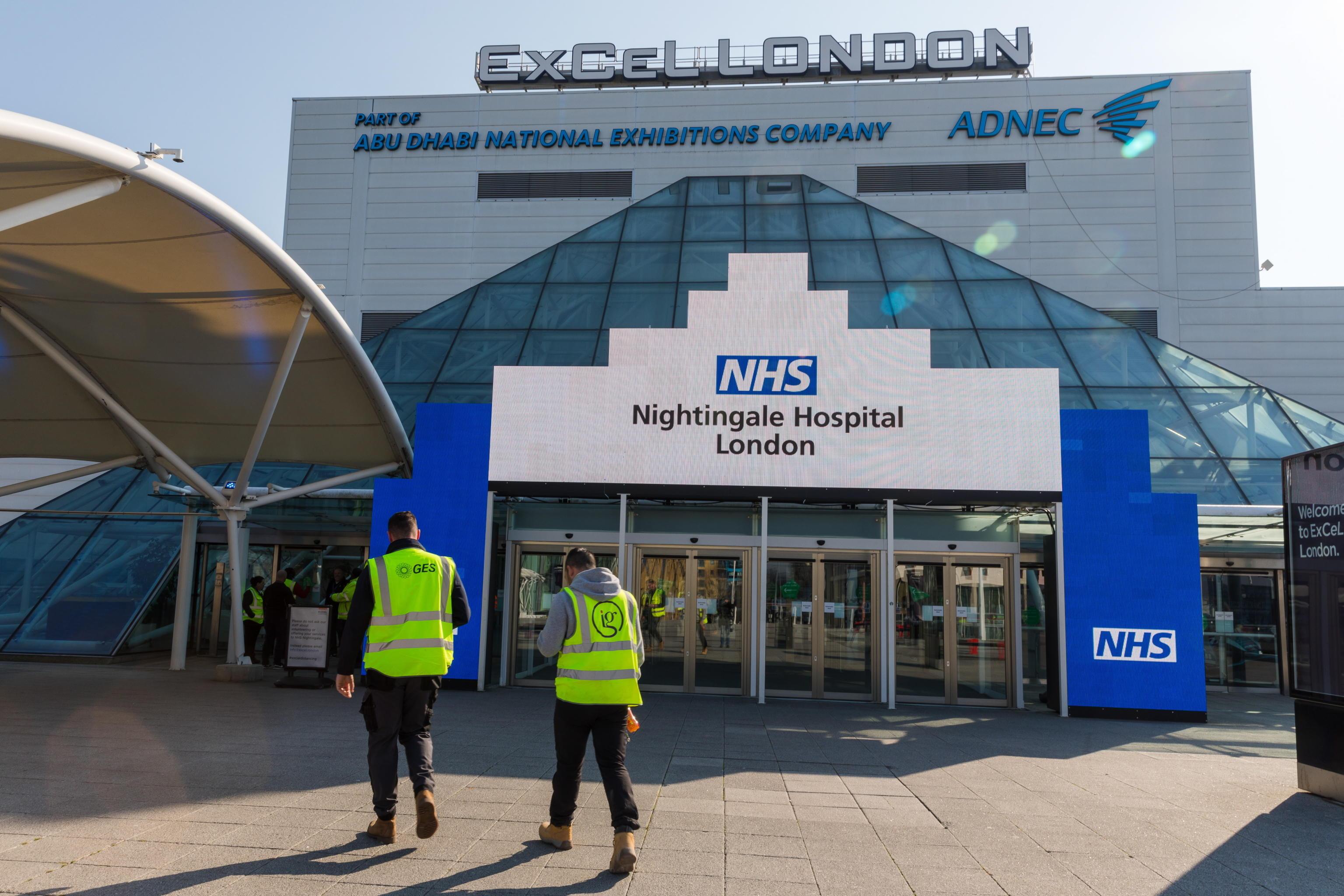 Coronavirus Gran Bretagna, già pronto ospedale e nuovi 33mila posti
