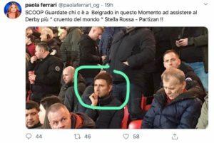 """Paola Ferrari: """"Alessandro Di Battista al derby di Belgrado"""" FOTO"""