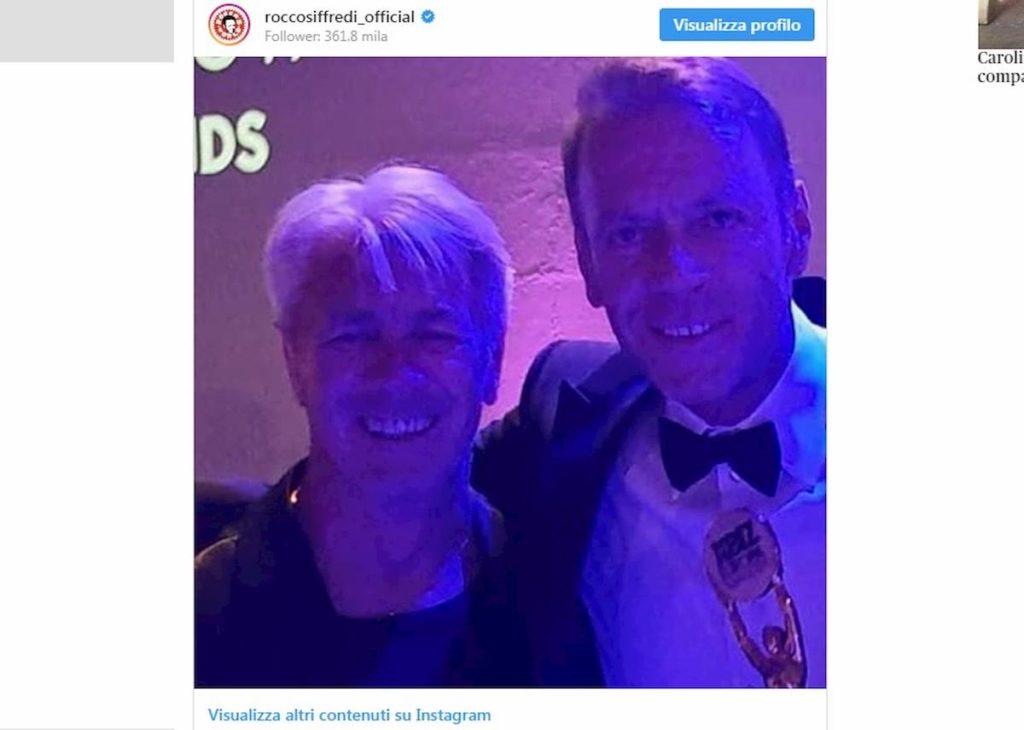 Rocco Siffredi con il cugino su Instagram