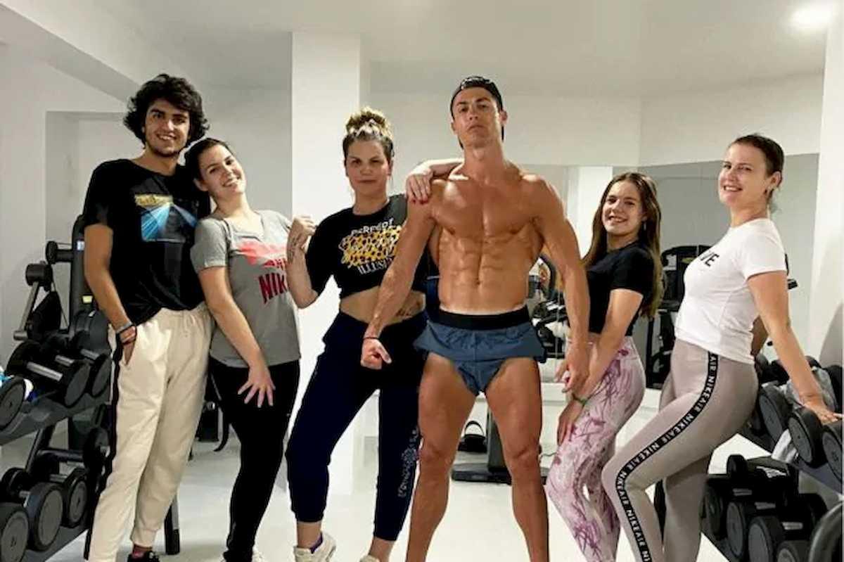 Coronavirus, Cristiano Ronaldo e la quarantena in palestra