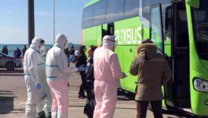 Salerno, controlli su pullman Flixbus e treni per paura dei contagi da Coronavirus VIDEO