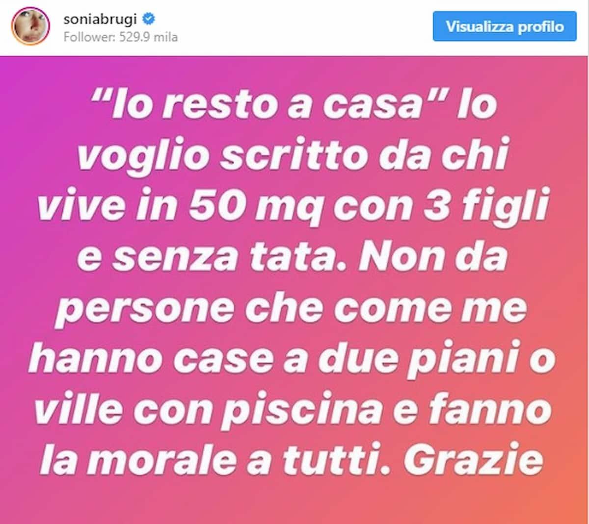 """Coronavirus, Sonia Bruganelli: """"Io resto a casa lo voglio scritto da chi abita in 50mq, non da chi ha la villa..."""""""