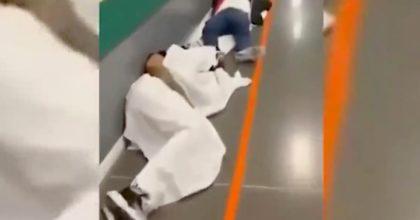 Spagna, come e peggio che da noi: oltre 1200 morti a Madrid, pazienti per terra in ospedale VIDEO