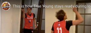 Coronavirus, lo strano allenamento domestico di Trae Young VIDEO