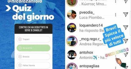 Zaniolo re di Instagram, è stato il più veloce a rispondere al quiz dell'Entella su di lui!