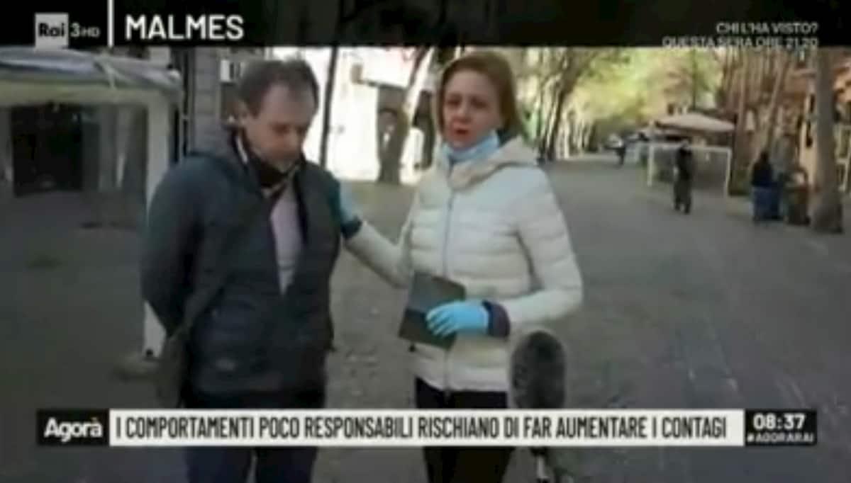 """Agorà (Rai3), gaffe inviata a Napoli per Coronavirus: """"Siamo sfortunati, non c'è nessuno"""""""