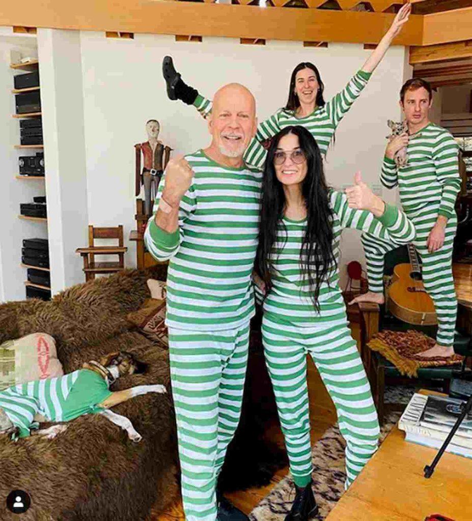 Bruce Willis e Demi Moore in quarantena con le 3 figlie