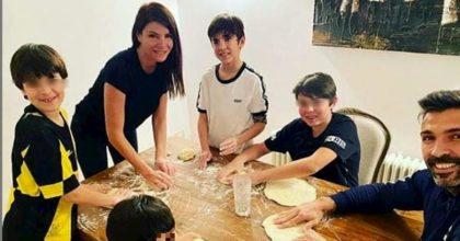 Coronavirus, Gigi Buffon e Ilaria D'Amico: quarantena con i figli