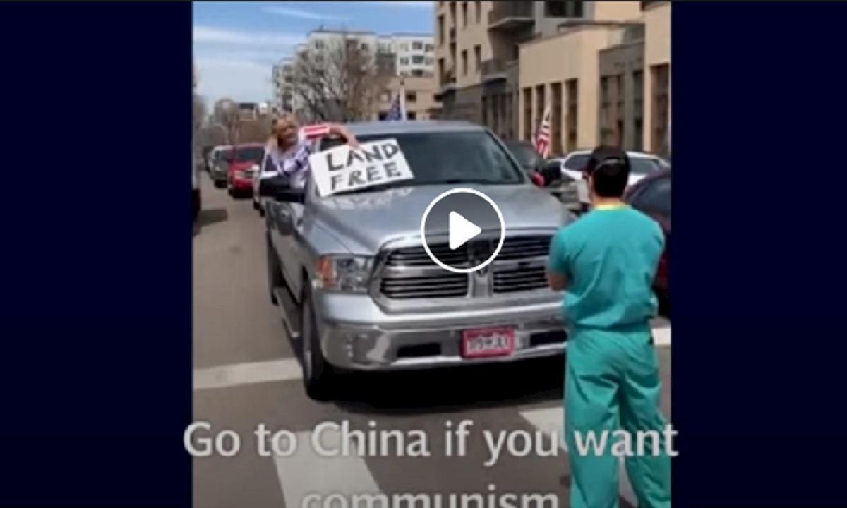 denver infermiere contro manifestanti