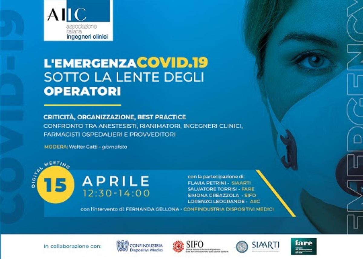 Emergenza Covid-19, digital meeting tra operatori sanitari il 15 aprile online