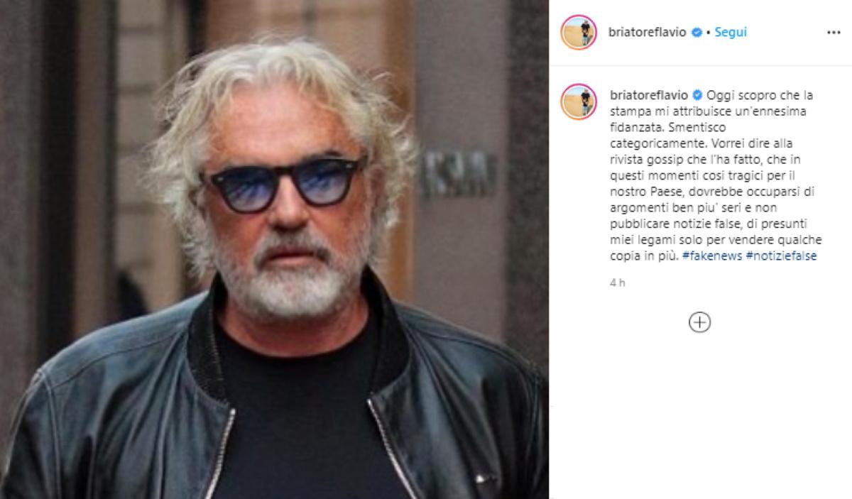Flavio Briatore fidanzato? Smentisce e accusa Chi: Fate fake news