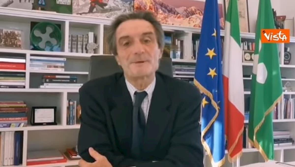 """Coronavirus, Fontana spiega le 4 D per la riapertura: """"E' la via lombarda alla libertà"""" VIDEO"""