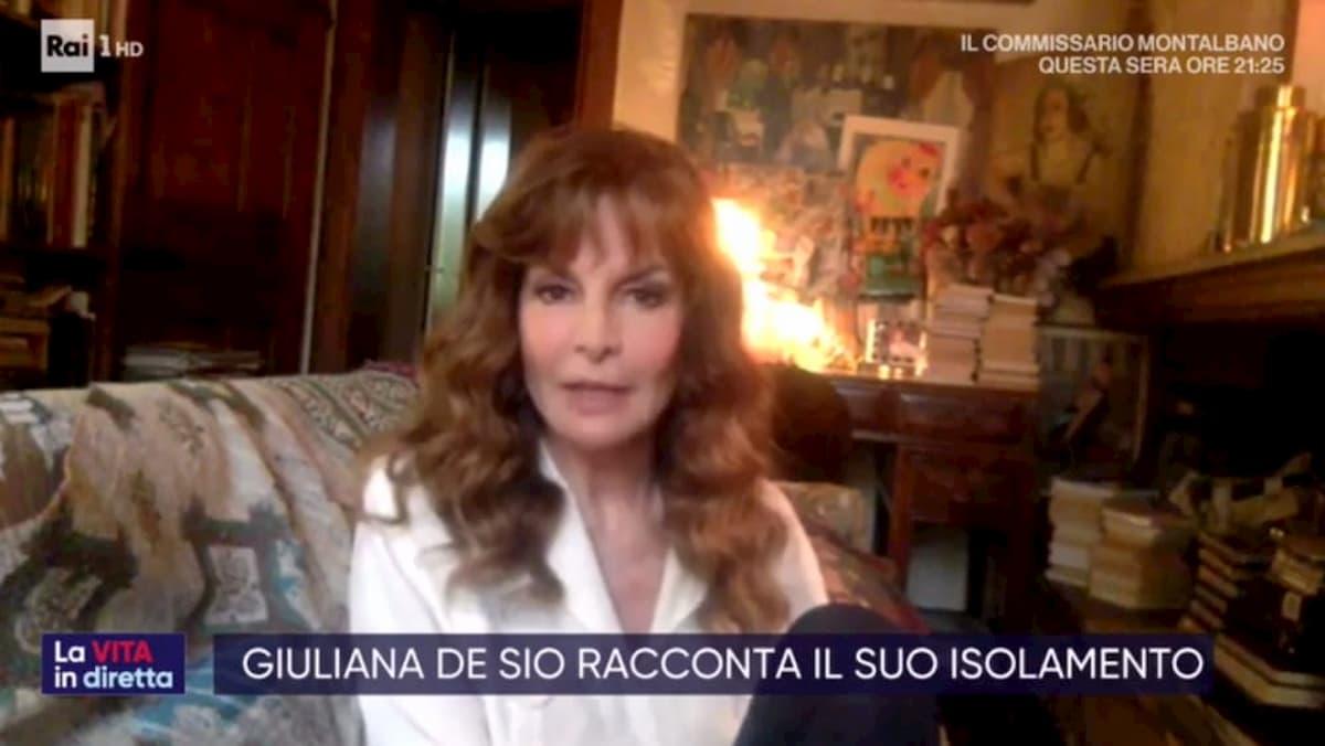 """Giuliana De Sio a La Vita in Diretta: """"Il coronavirus un'esperienza terribile"""""""