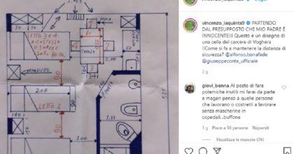 """Vincenzo Iaquinta: """"Nella cella di mio padre impossibile mantenere la distanza di sicurezza"""""""