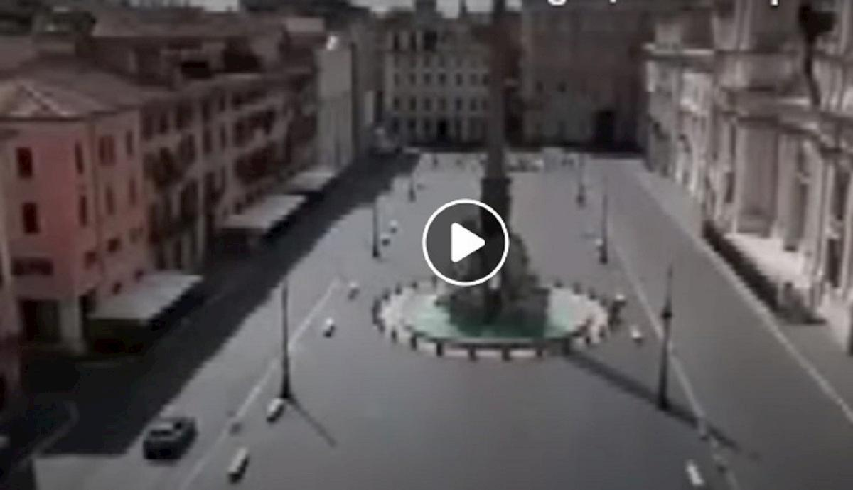 roma deserta video polizia