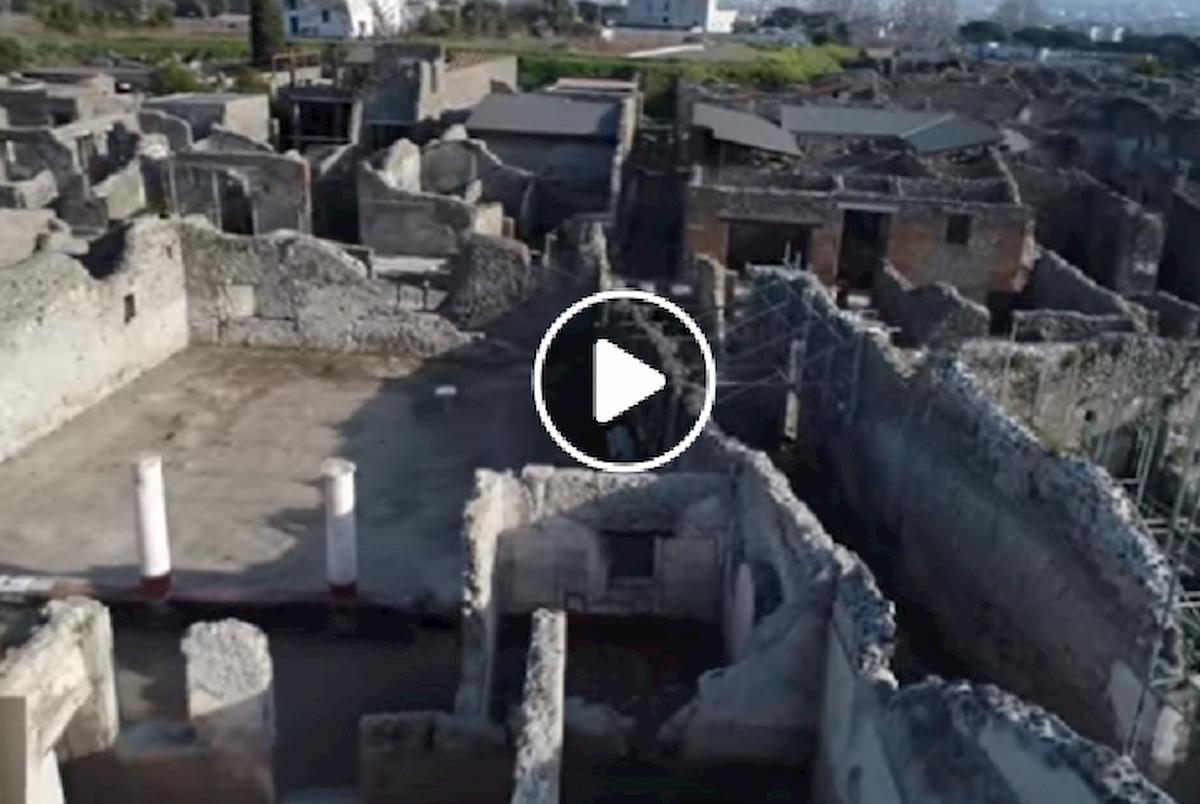 pompei vistaa dal drone
