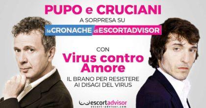 Pupo e Cruciani cantano Virus contro Amore per il sito Escort Advisor