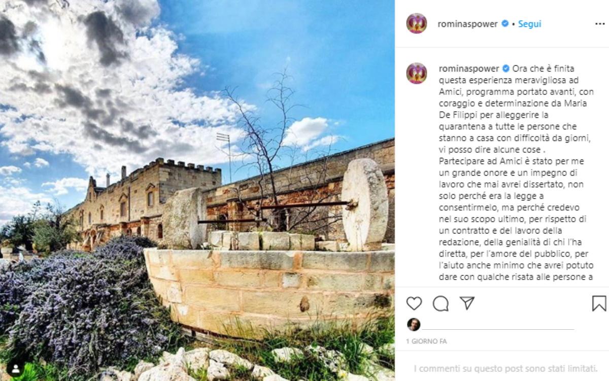 Romina Power quarantena a Cellino San Marco con Al Bano