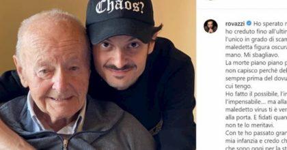 """Fabio Rovazzi, il nonno morto per il coronavirus: """"Sei stato il migliore, non te lo meritavi"""""""