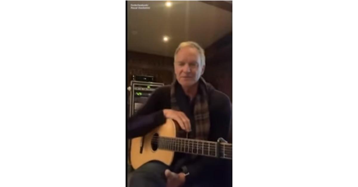 Coronavirus Sting canta per gli amici italiani: Mi mancate VIDEO
