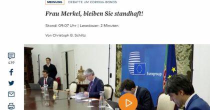 "Coronavirus, Die Welt: ""Merkel non aiuti. La mafia aspetta i soldi Ue"". Di Maio: ""Vergognoso"""