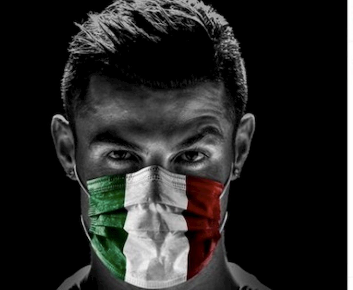 Juventus, Cristiano Ronaldo con la mascherina: il fuoriclasse portoghese è tornato alla Continassa