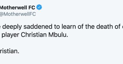 Christian Mbulu è morto improvvisamente a 23 anni, ha giocato con Millwall e Motherwell
