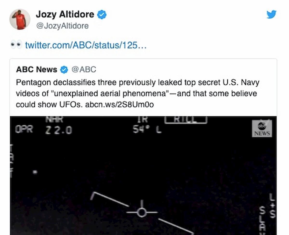 """Jozy Altidore: """"Gli ufo esistono, ci sono video che lo dimostrano"""""""