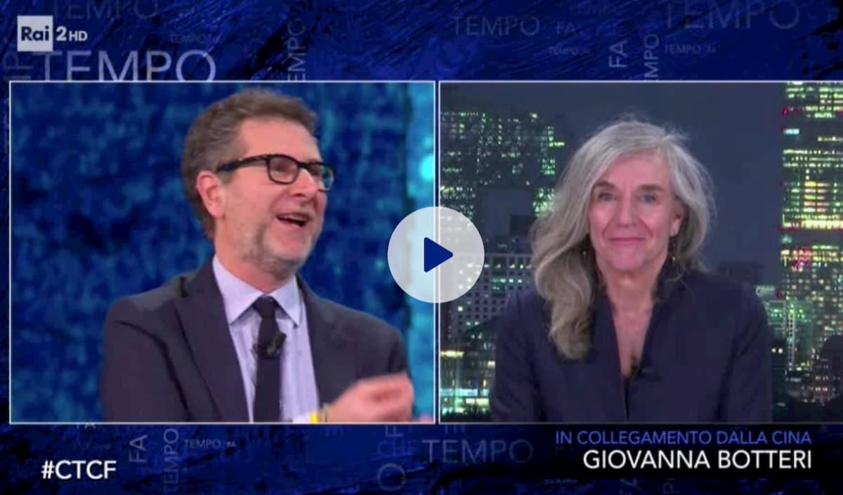 """Giovanna Botteri a Fabio Fazio torna sulle critiche di Striscia: """"Ho messo la giacca per te"""""""