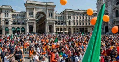 Gilet arancioni in piazza da Milano a Roma: scontri, nessuna distanza né mascherine, sanzioni in arrivo