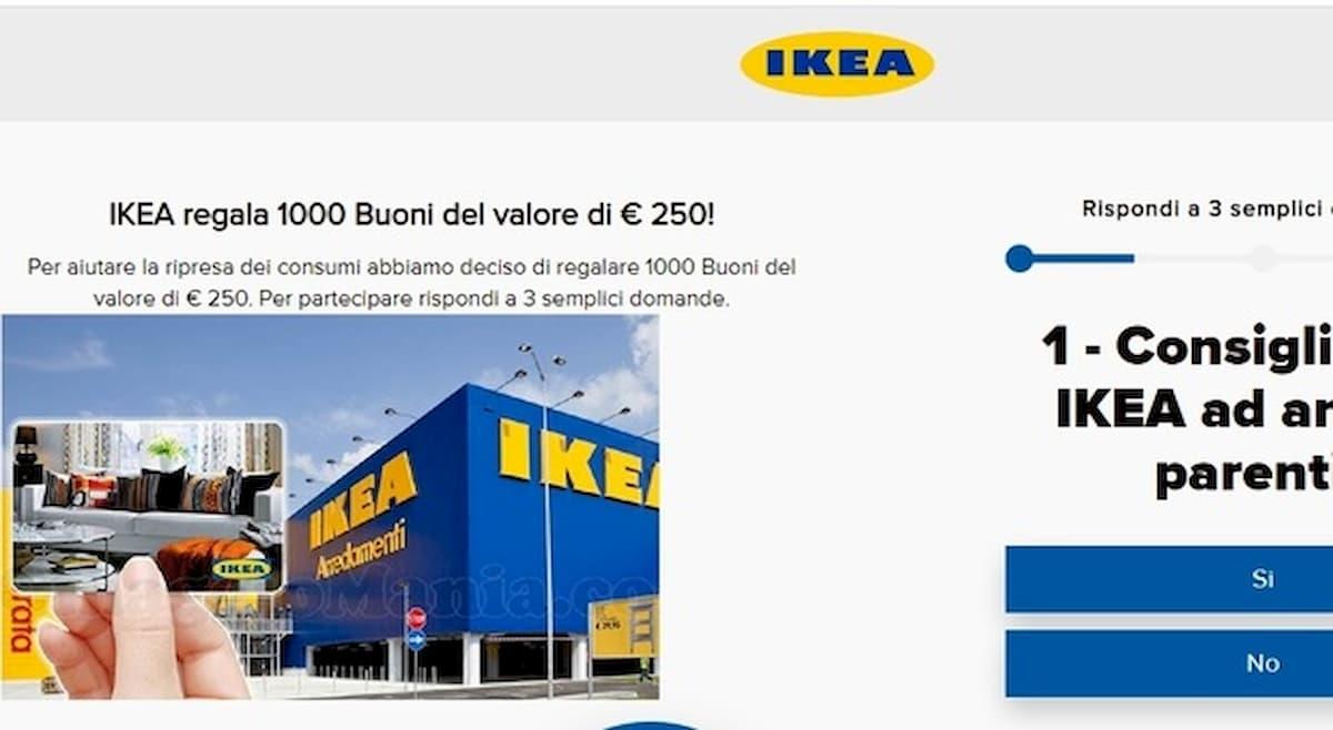 Buono regalo Ikea da 250 euro, messaggio su WhatsApp è truffa