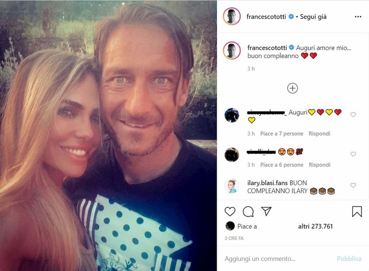 Ilary Blasi mostra la cameretta di Totti ai follower di Instagram