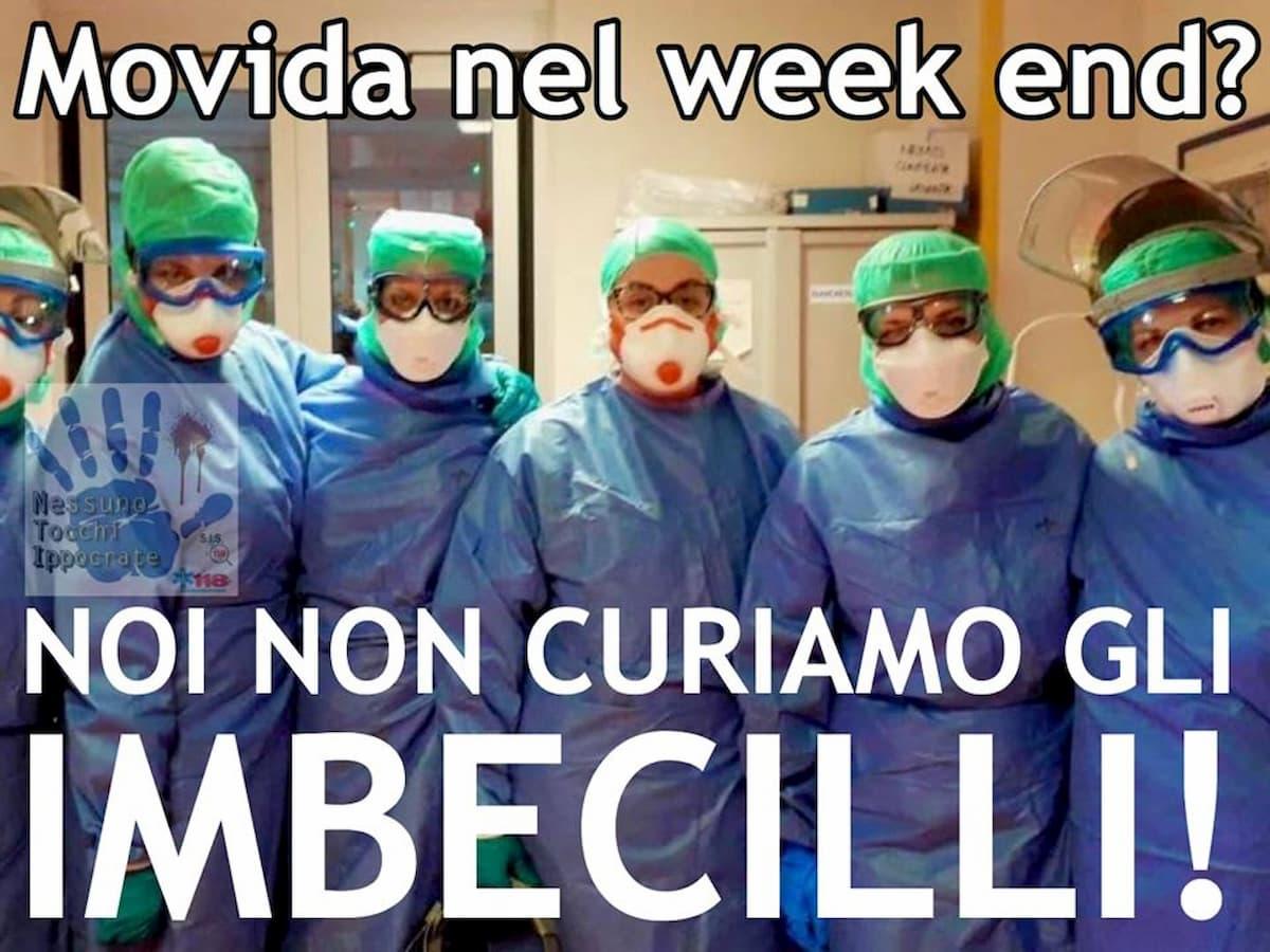 """Coronavirus e movida, il post su Fb dei medici rianimatori: """"Non curiamo gli imbecilli"""""""
