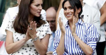 Kate Middleton e Meghan Markle, foto Ansa
