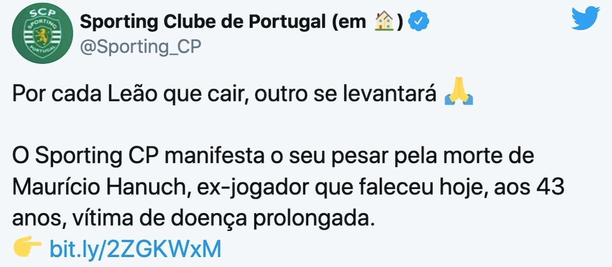 Maurício Hanuch è morto a 43 anni, è stato compagno di squadra di Cristiano Ronaldo allo Sporting Lisbona