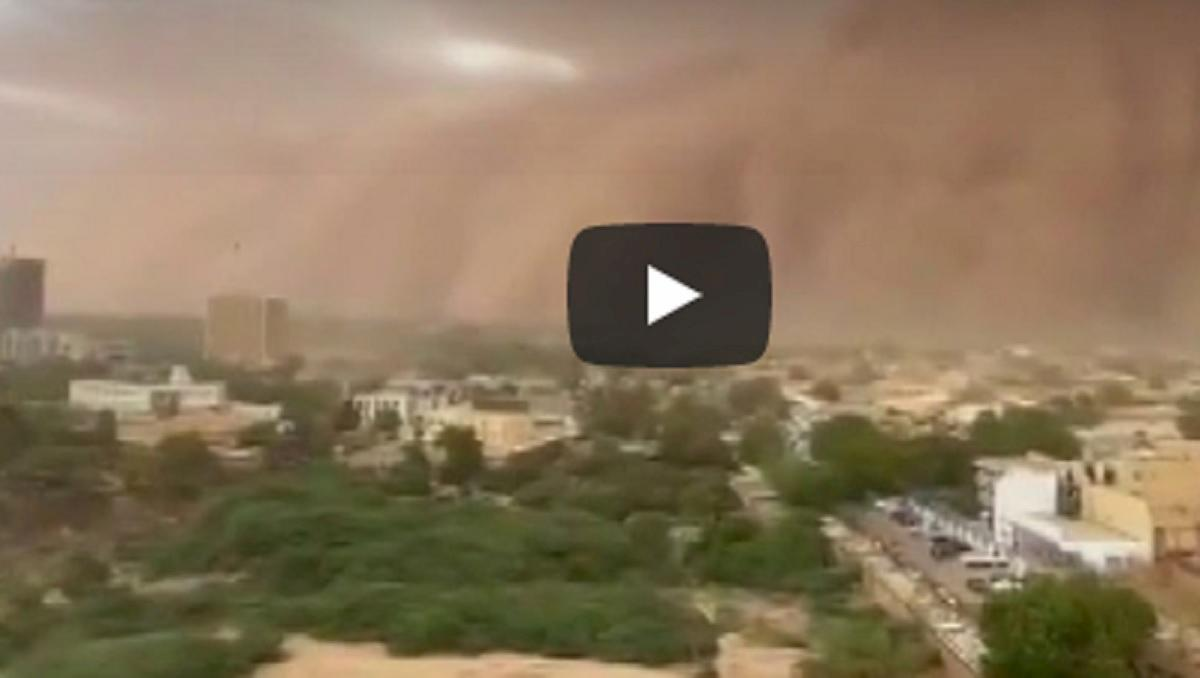 niger tempesta sabbia