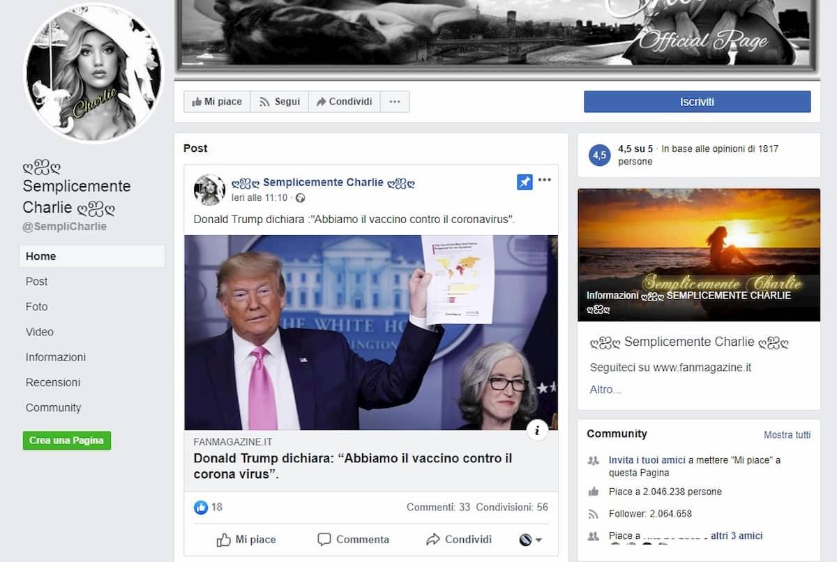 Le pagine Facebook che diffondono in Italia disinformazione sul Coronavirus