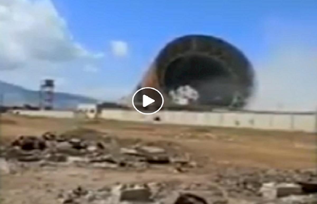 siria crollo torre elettrica