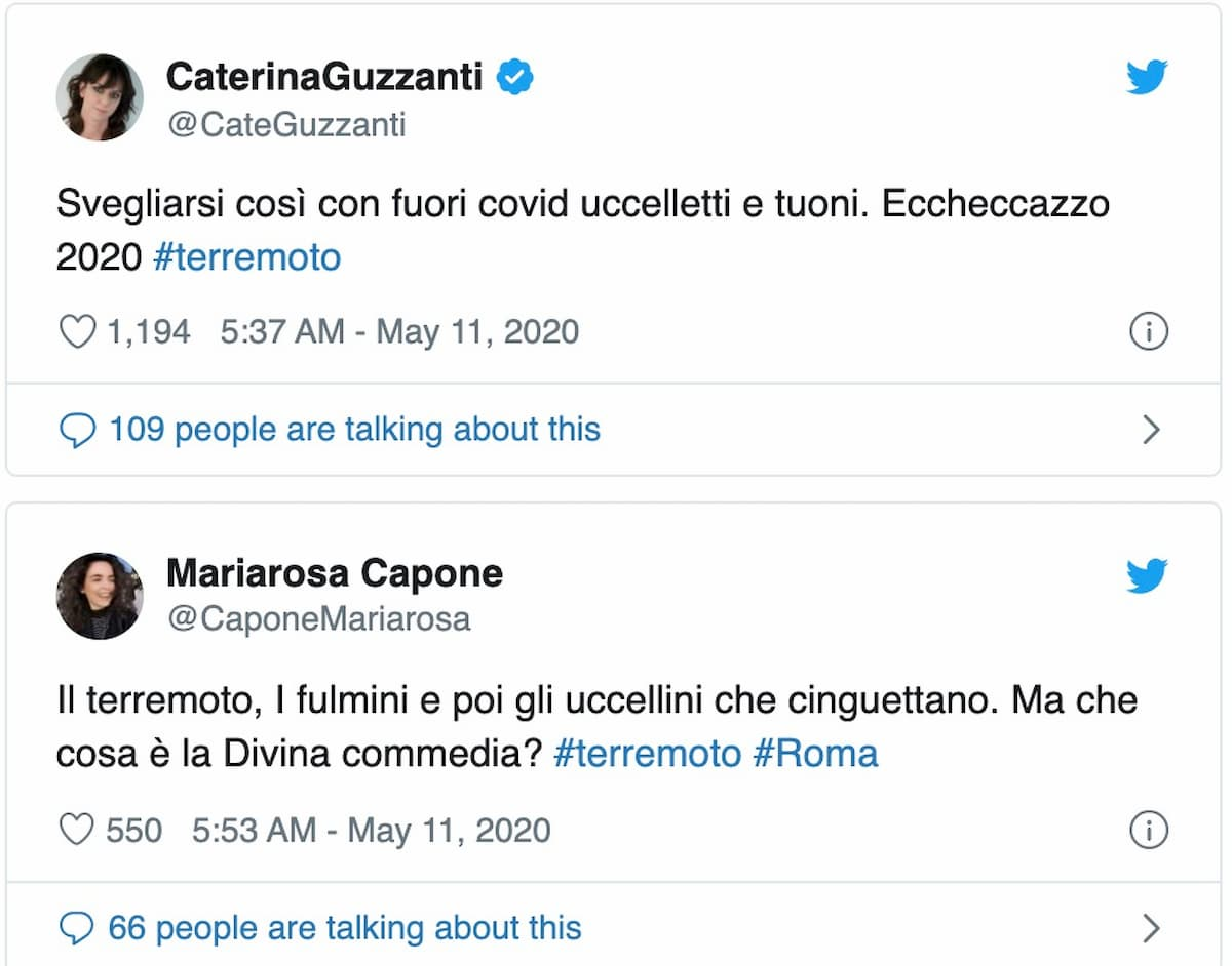 Terremoto a Roma durante il coronavirus, titolano gli inglesi. E i romani si scatenano contro il 2020...