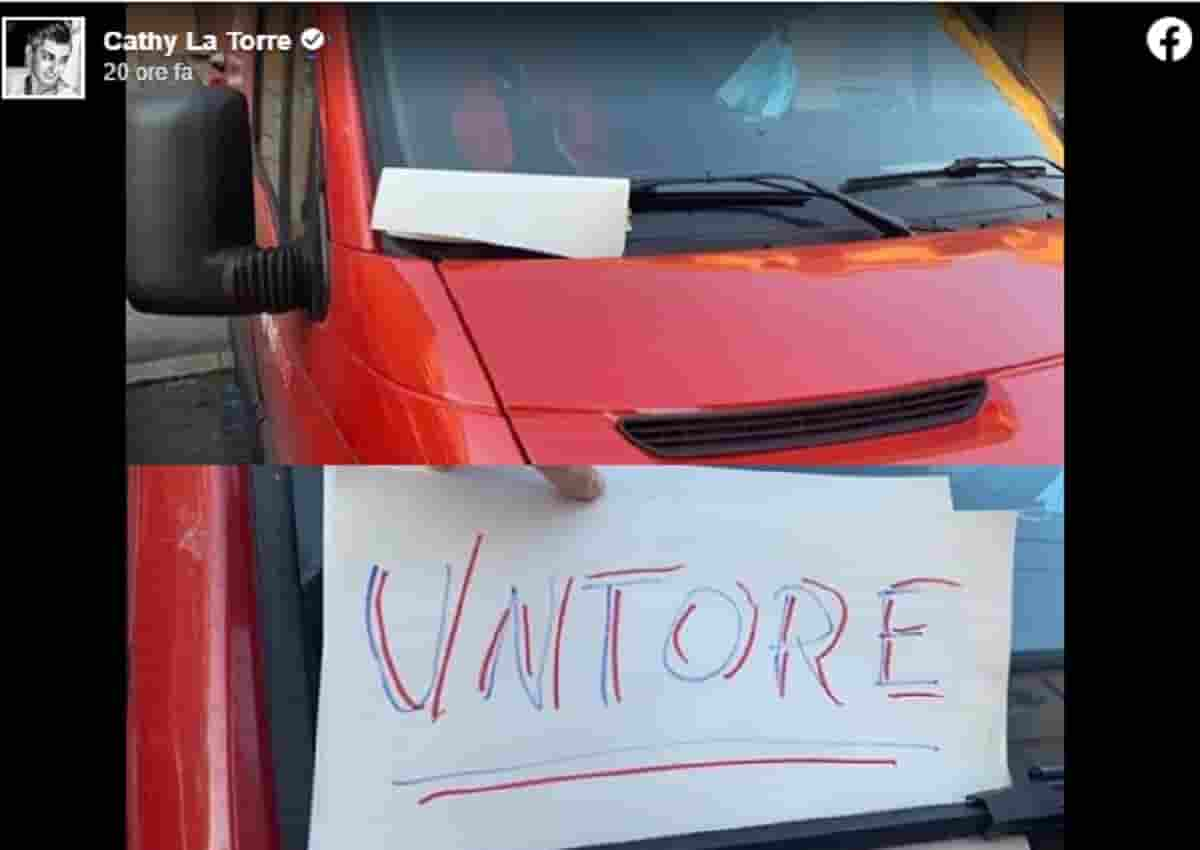 Bartolini, il cartello trovato da un corriere
