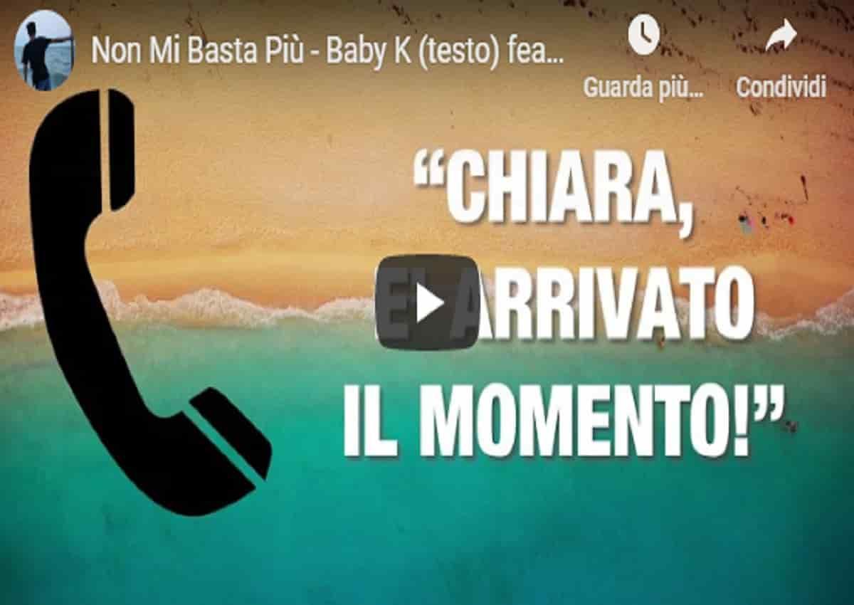Chiara Ferragni e Baby K, la canzone Non mi basti più