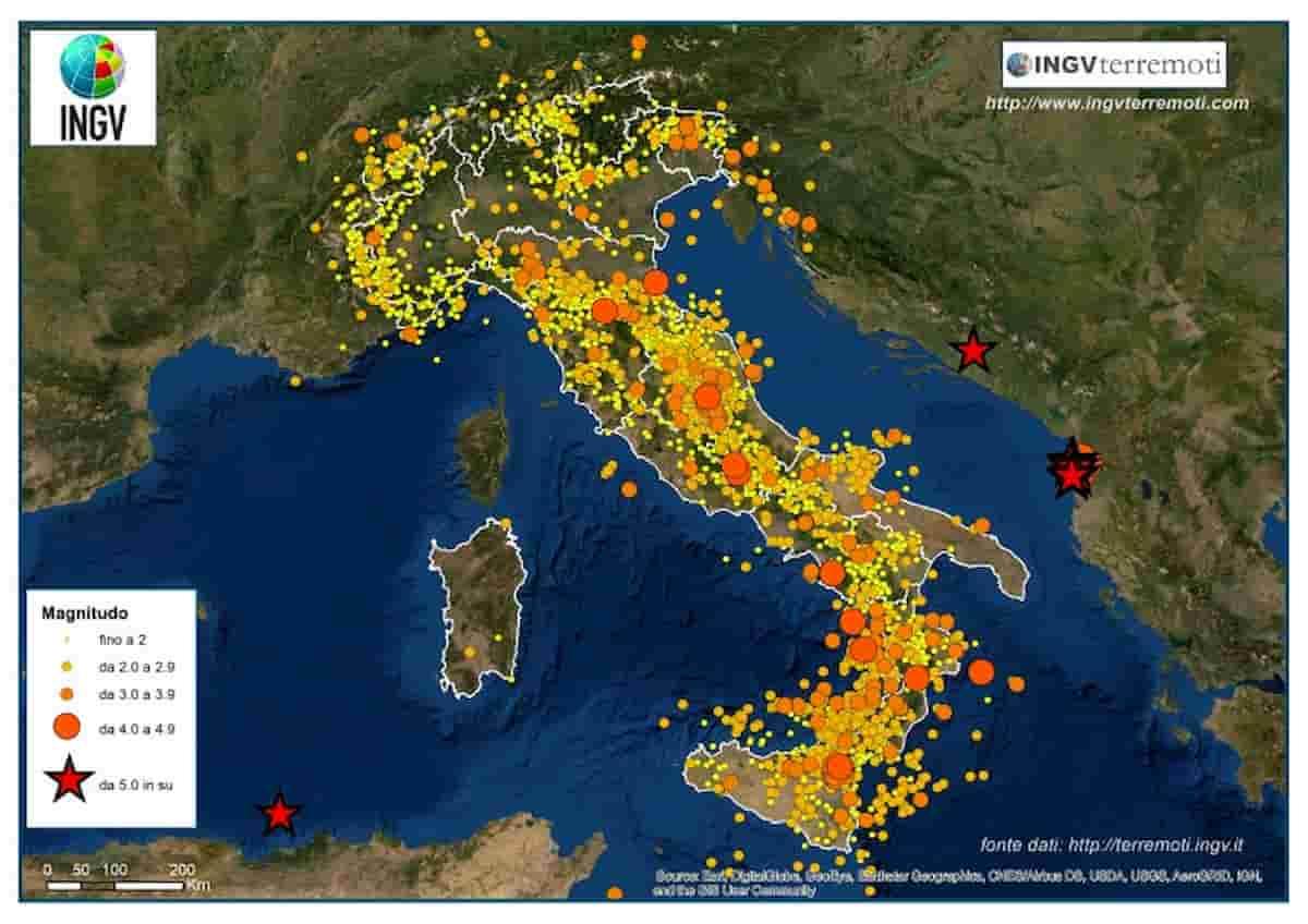 Con il lockdown vibrazioni sismiche ridotte del 50% nel Nord Italia