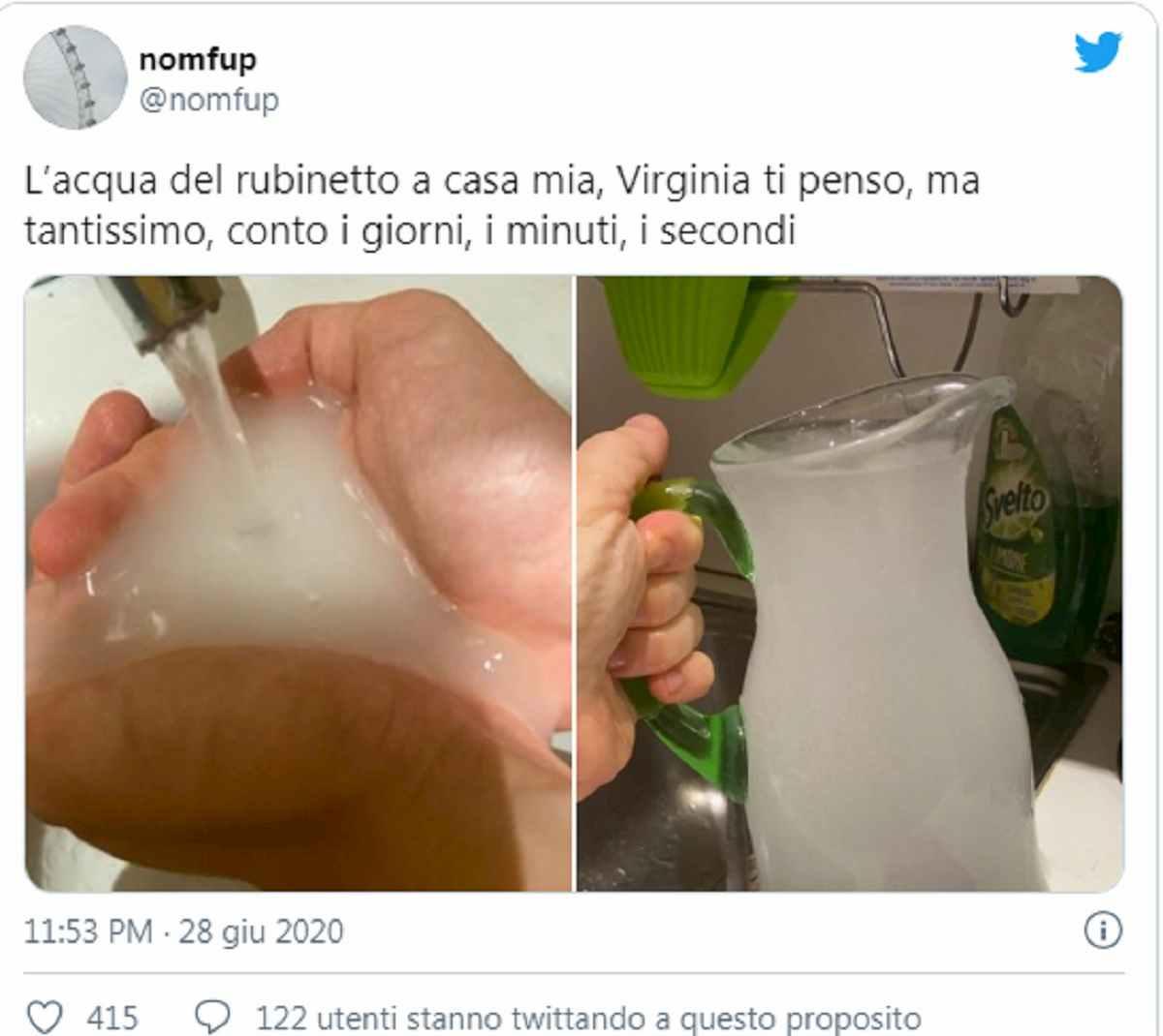 l'acqua dal rubinetto di casa di filippo sensi