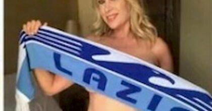 """La Lazio copia il Borussia, cartonati dei tifosi sugli spalti. Ci sarà anche Anna Falchi: """"Senza vestiti ma con la sciarpa biancoceleste"""""""