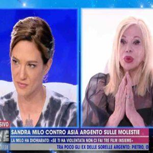Asia Argento e Sandra Milo a Live - Non è la d'Urso