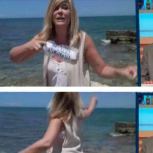 """I Fatti Vostri, giornalista lancia una bottiglietta di plastica in mare. Ambientalisti: """"Inaccettabile"""""""