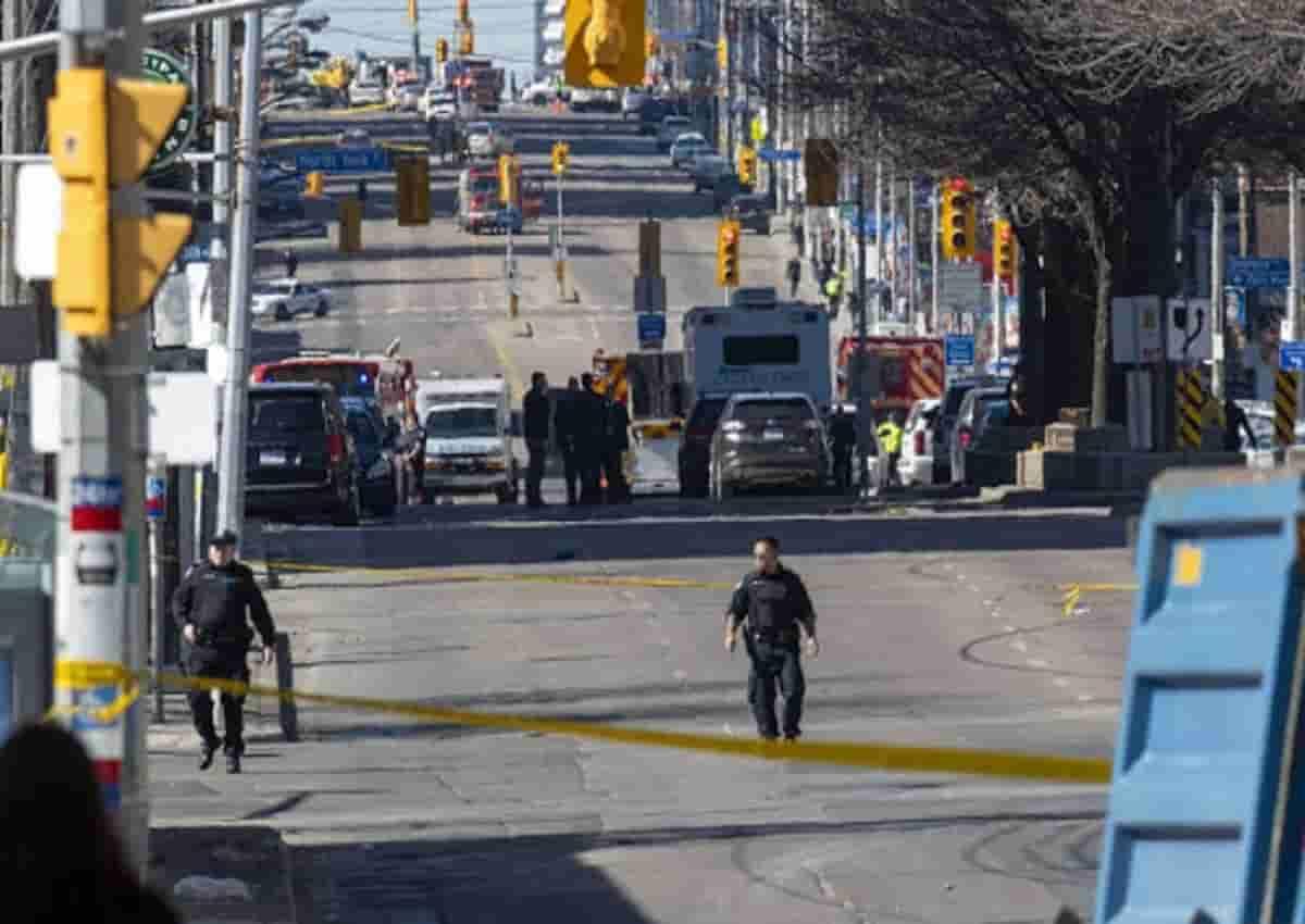 Canada, la polizia in azione in una foto d'archivio Ansa