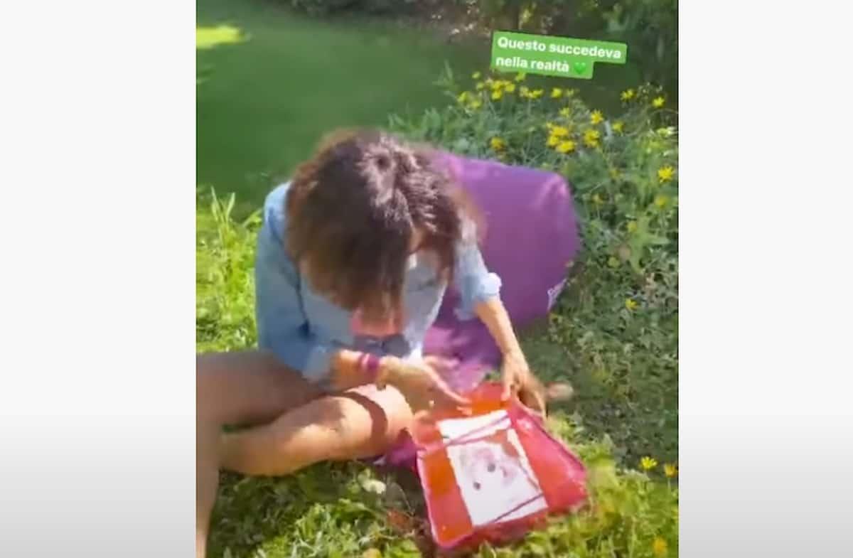 Caterina Balivo in una stories su Instagram